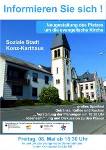 2015.04.23. Platzgestaltung evangelische Kirche